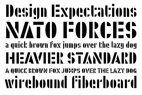 Stencil font category
