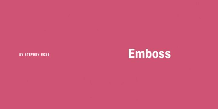 Font Sale: Emboss Fonts 30% Off
