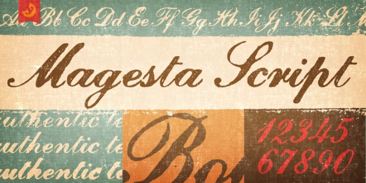 Magesta Script, designed by Yellow Design Studio.