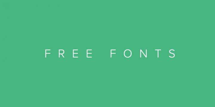 Free Desktop Fonts and WebFonts