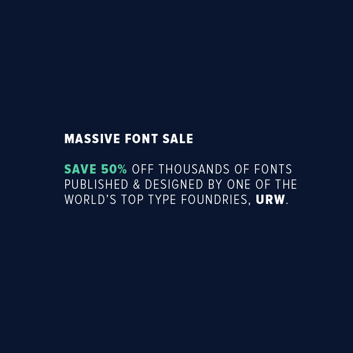 URW++ Font Sale