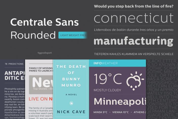 Centrale Sans Rounded Font