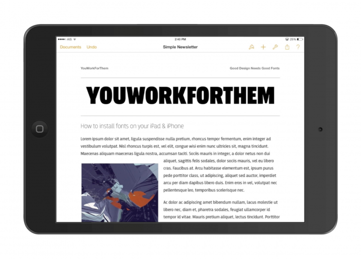 Install Fonts on your iPad and iPhone!