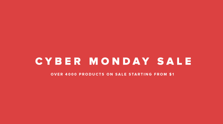 Cyber Monday - Download Fonts as low as $1