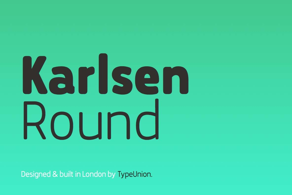Karlsen Round by TypeUnion