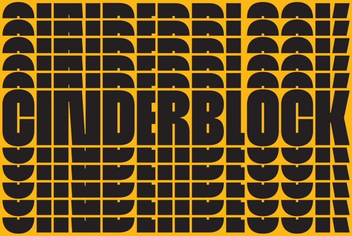 The World's Tallest Typeface, Cinderblock
