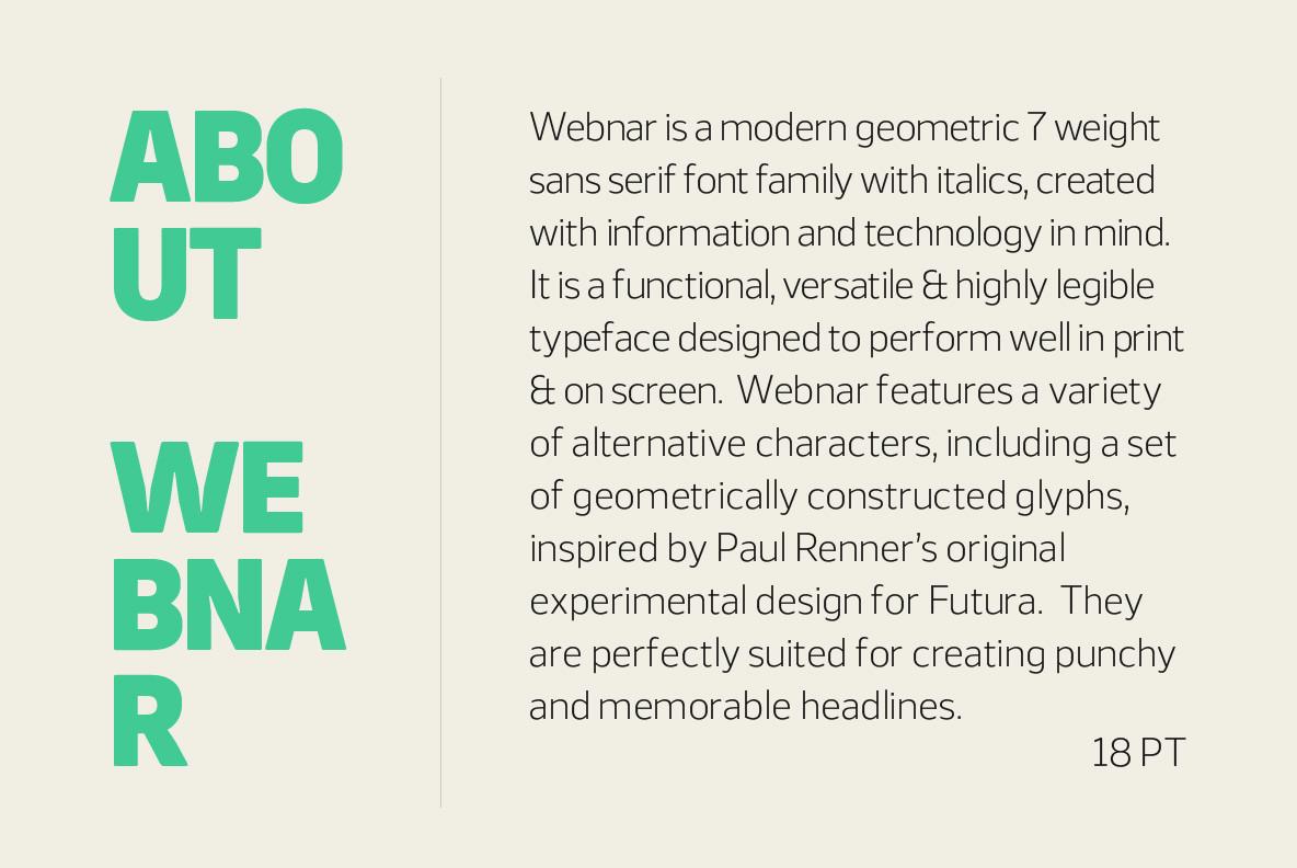 Download Webnar Font