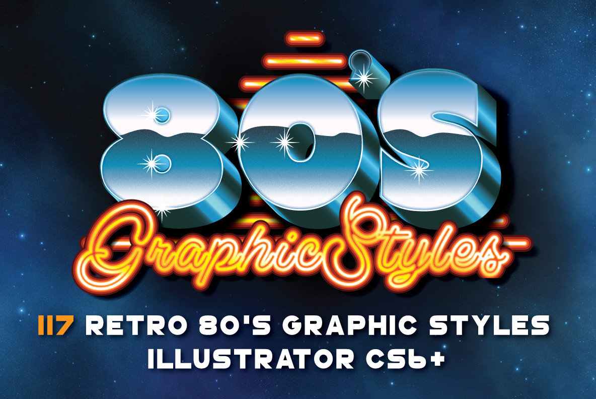 Download 80s Retro Graphic Styles Stock Extra