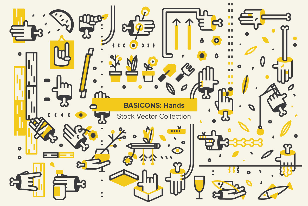 Basicons: Hands, designed by YouWorkForThem