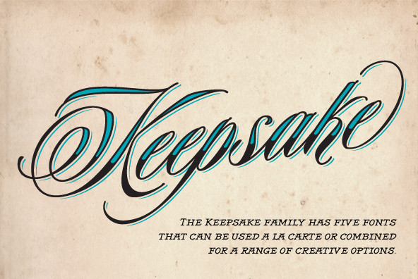 Save 75% Off Keepsake Font