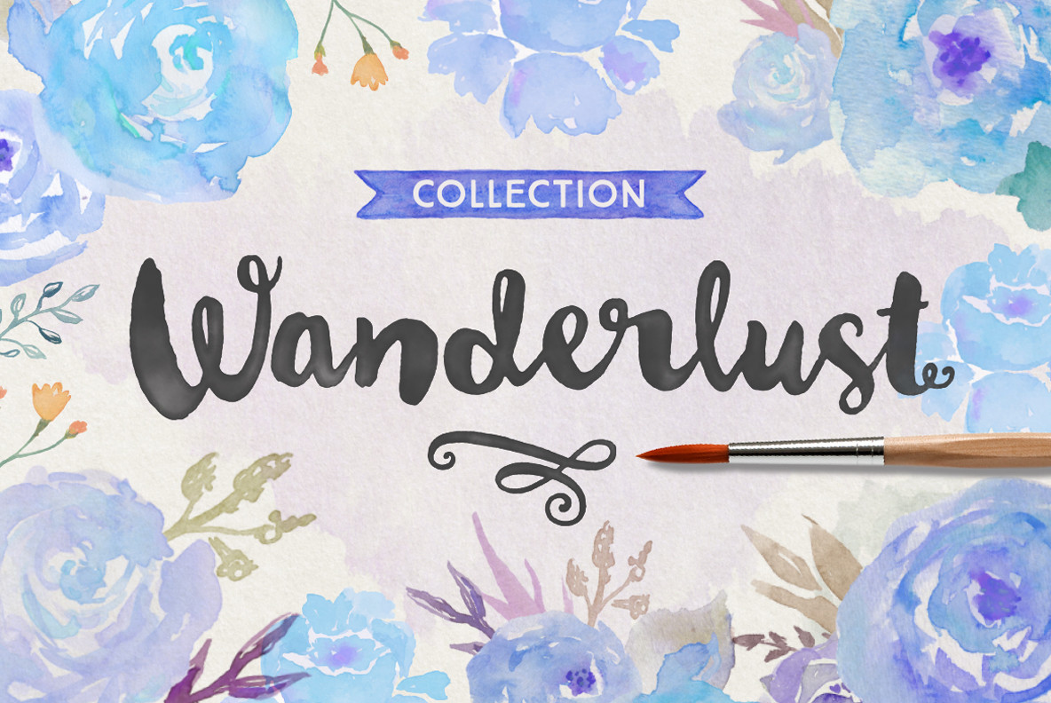 The Wanderlust Font Collection