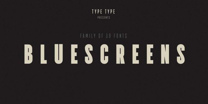 TT Bluescreens Font by TypeType