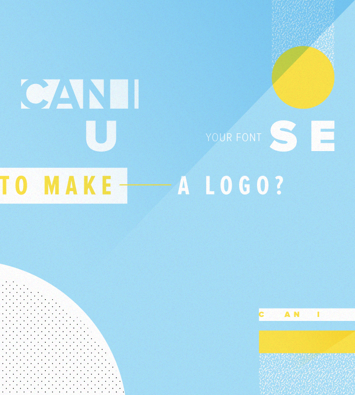 can i use your font for a logo