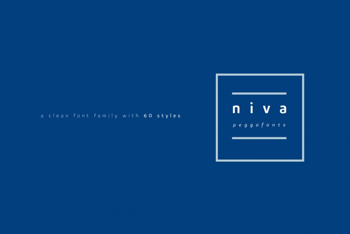 The Clean, Modern Style Of Niva From PeGGO Fonts