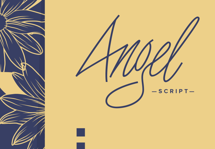Angel Script Is A Contemporary Handwritten Cursive Type Design With Swashes Stylistic And Contextual Alternates Titling Old Style
