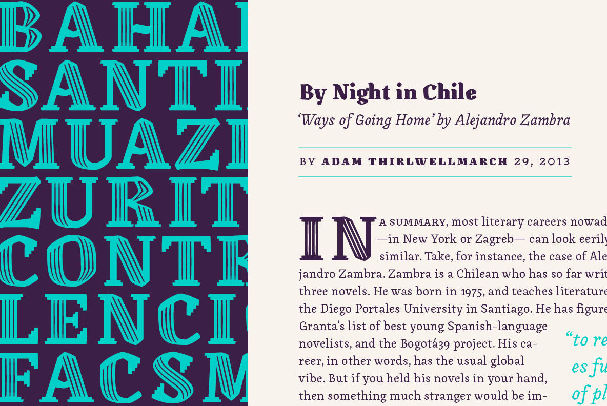 The Contemporary Canilari by LatinoType