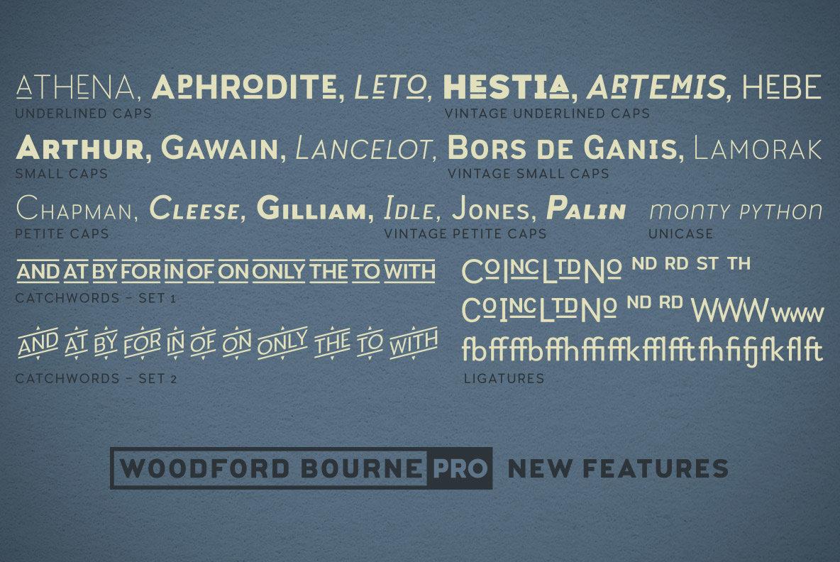 Download Woodford Bourne PRO Font