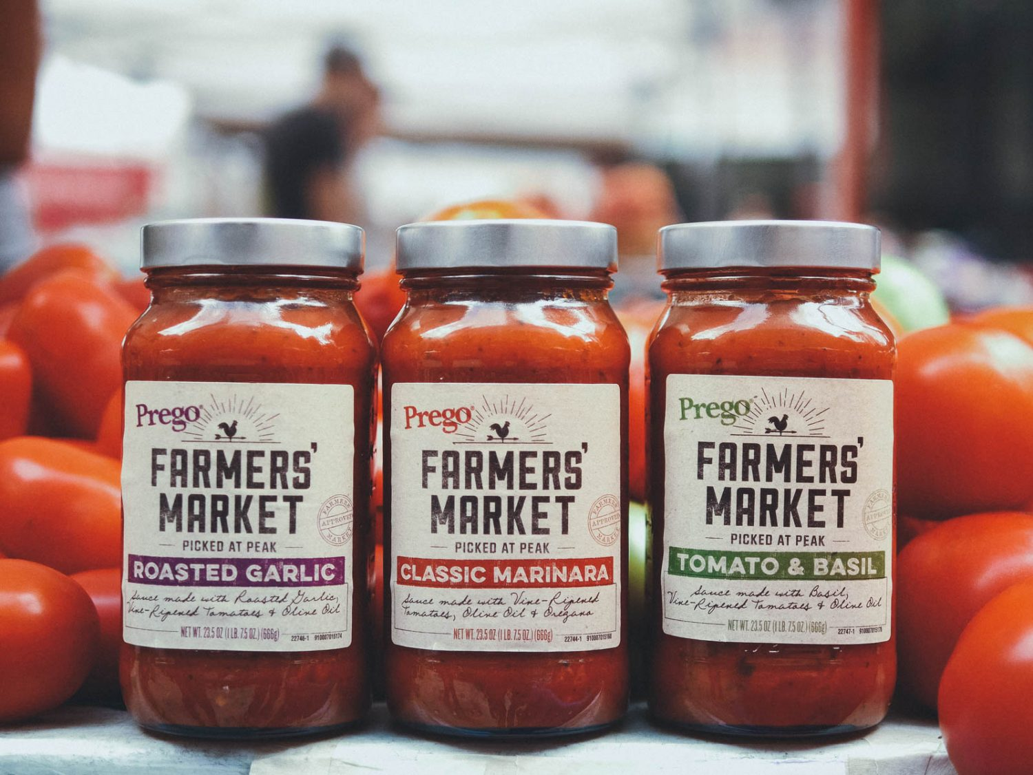 A Vintage Letterpress Font for Prego Farmer's Market Sauces