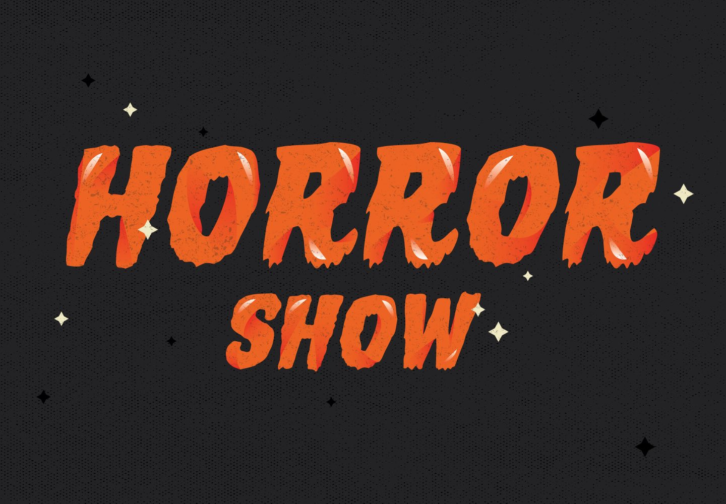 horror show recalls classic type styles that were commonplace in mid century horror movie poster designs this heavy display font is packed with thrills and - Good Halloween Font