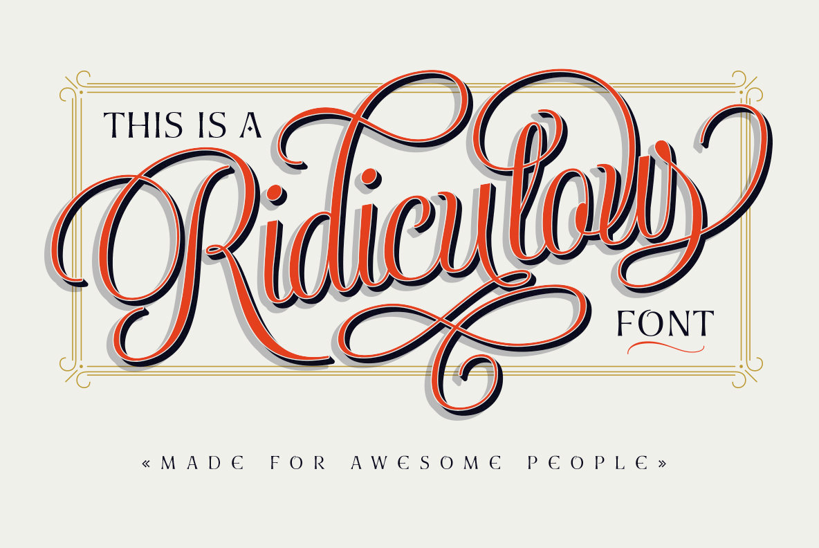 LatinoType's Antonietta Blends Copperplate Styling With Rococo Decadence