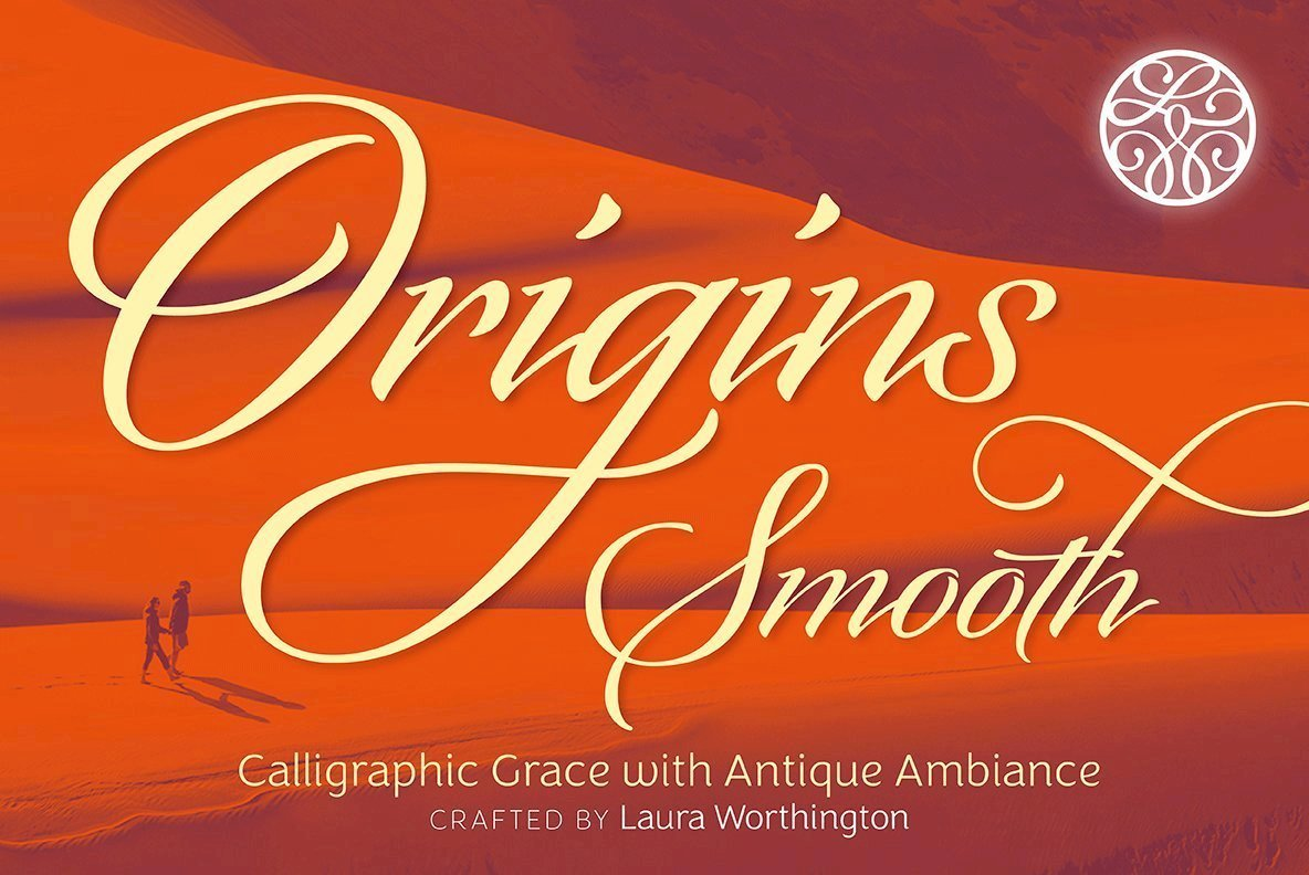 Origins Smooth Harmonizes Graceful Composition In An Italic Script