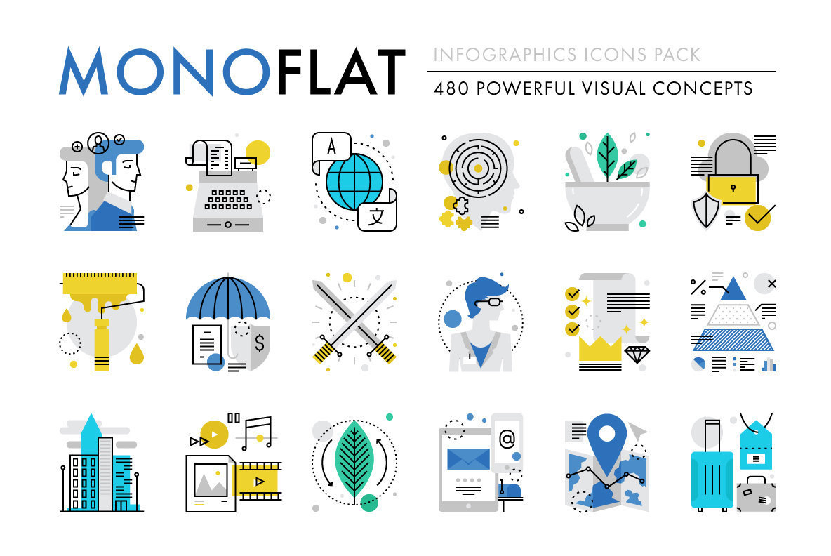 Download Monoflat Infographics Icons Stock Graphics