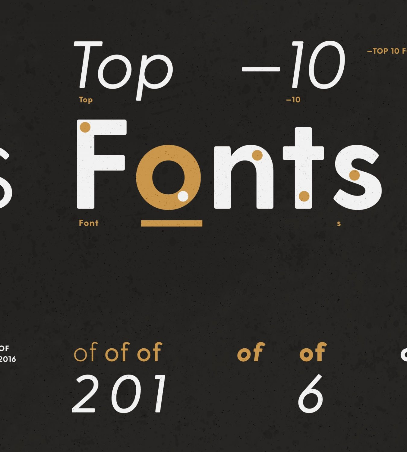 Top 10 Fonts of 2016