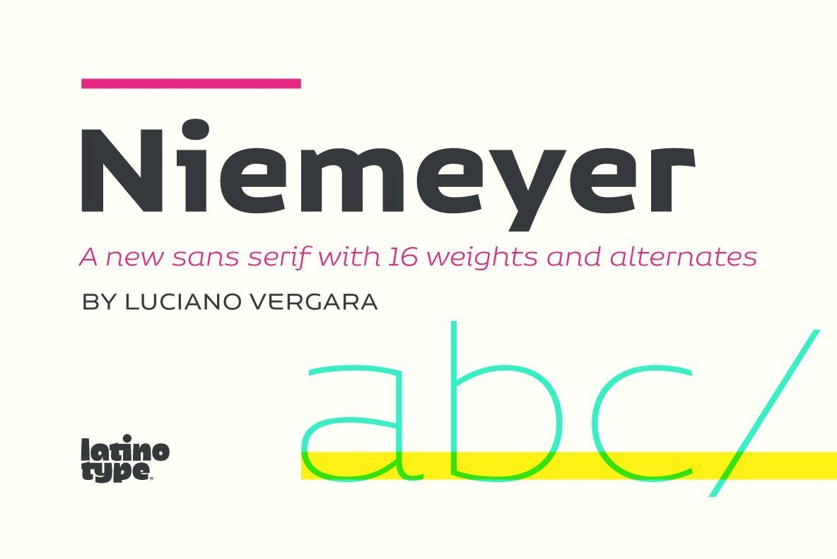 A Sans Serif Tribute To Brazilian Architecture: Niemeyer