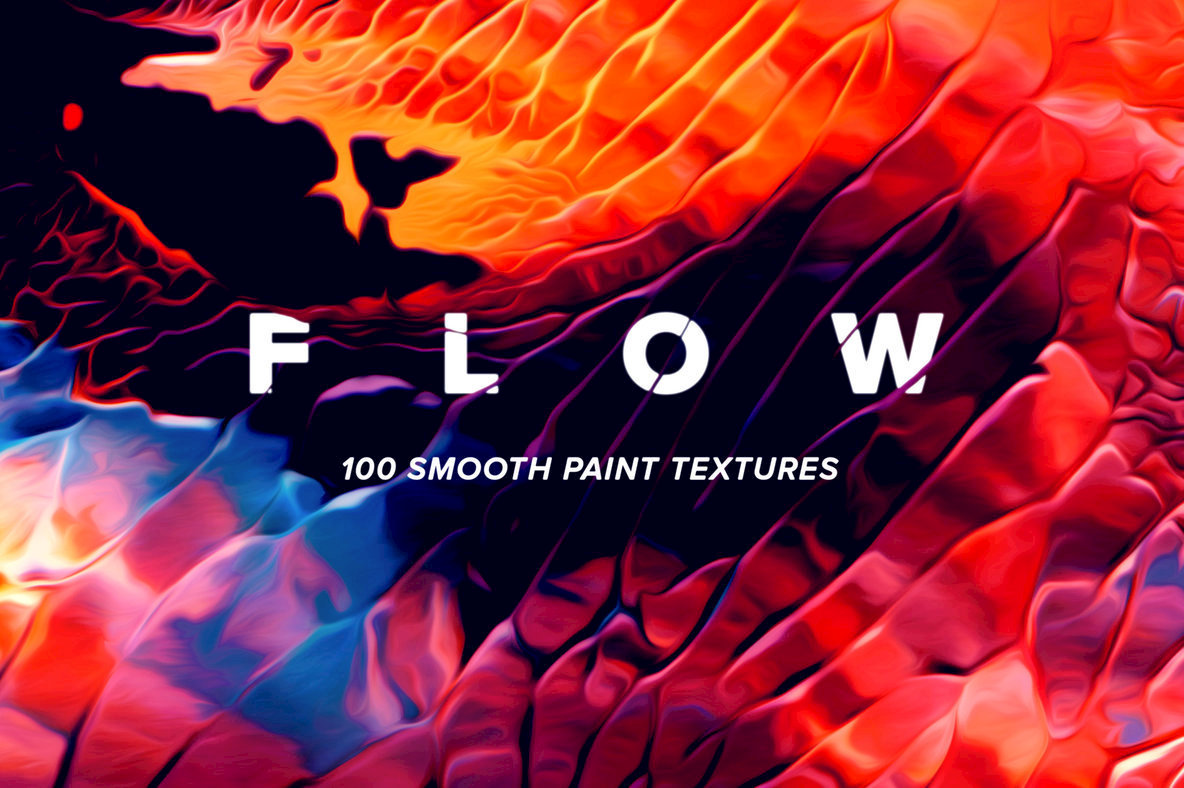 A Joyful Celebration Of Abstract Paint Texture: Flow