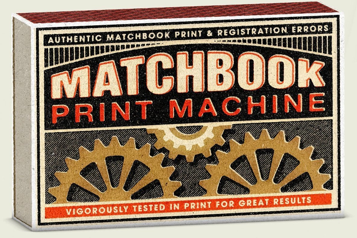 Create 1950s Print Effects With Matchbook Print Machine
