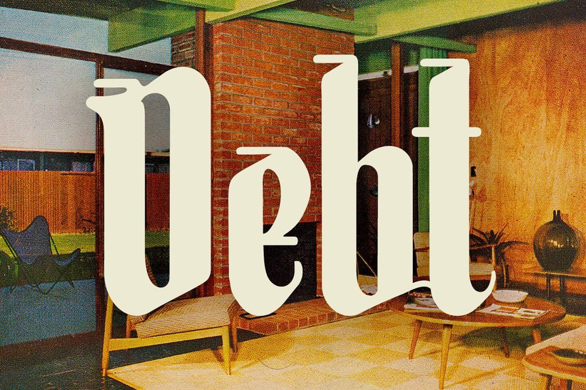 Unlucky: A Pessimistic Blackletter Script For Delivering Bad News