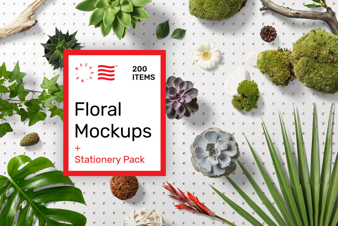 Download Floral Mockups and Stationery Pack Stock Graphics