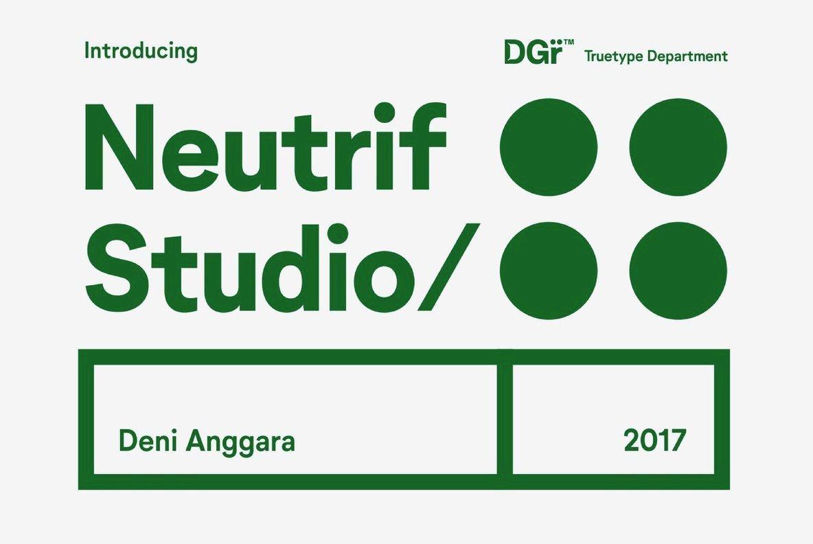 Download Neutrif Studio Font