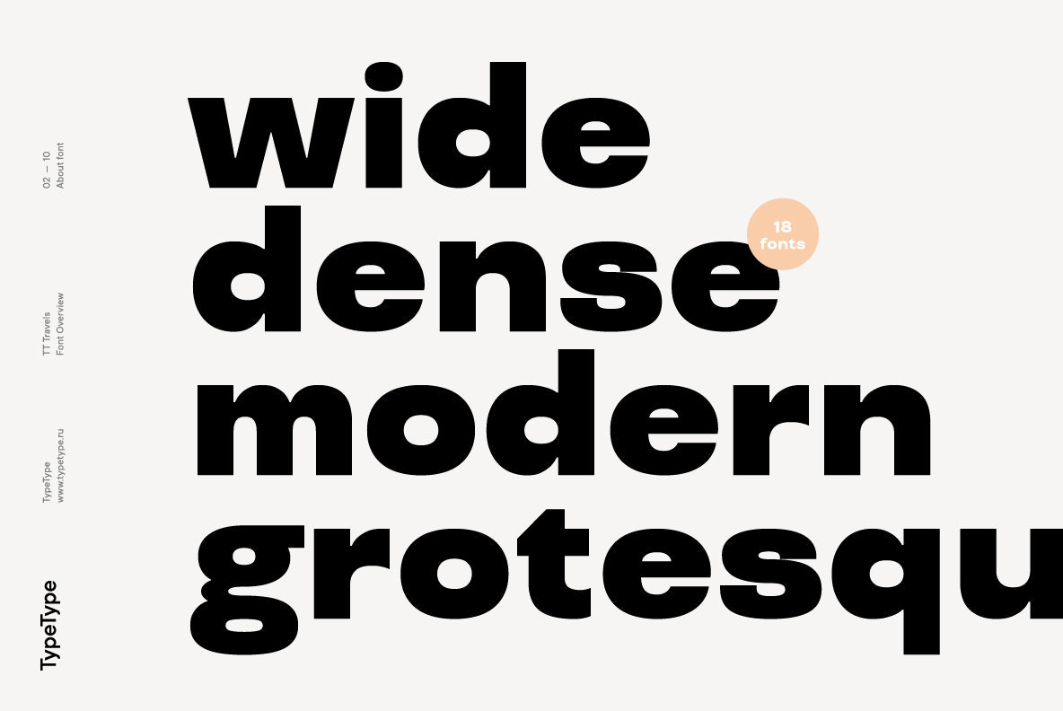 A Versatile Geometric Sans Serif From TypeType Foundry: TT Travels