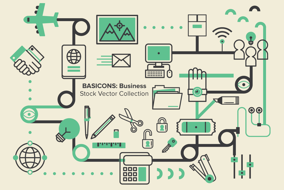 Basicons: Business Vectors by YouWorkForThem