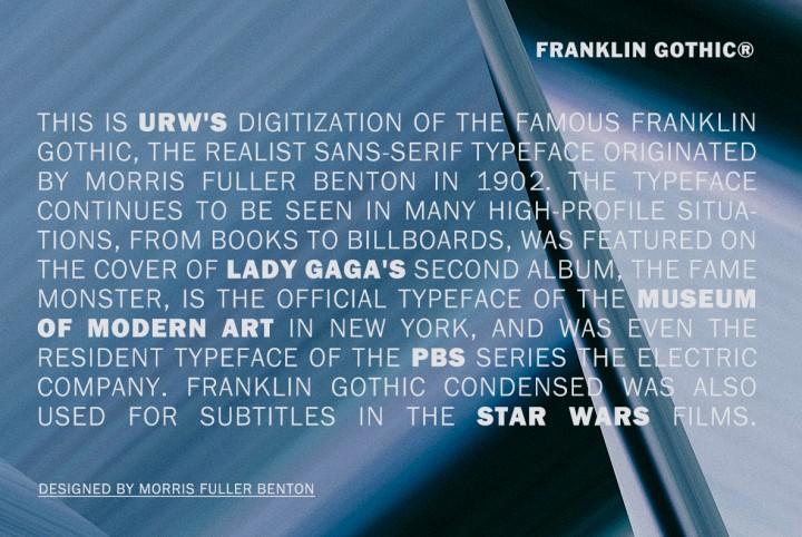 A Brief History Of Franklin Gothic | YouWorkForThem