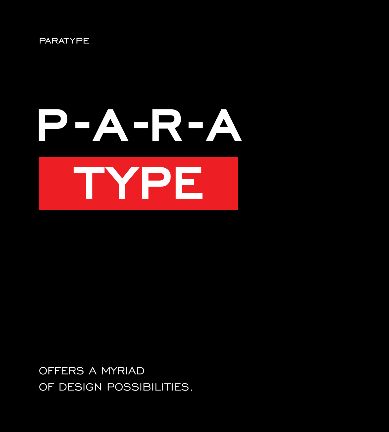 ParaType Offers A Myriad Of Design Possibilities
