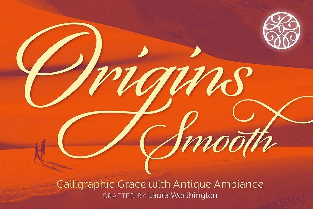 Origins Smooth Harmonizes Graceful Composition In An Italic Script