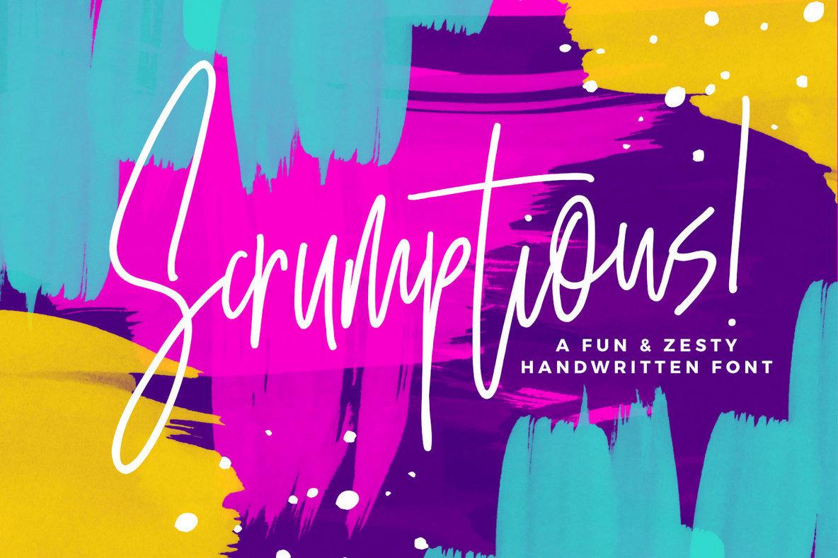 Scrumptious: A Deliciously Vibrant Handwritten Script Font