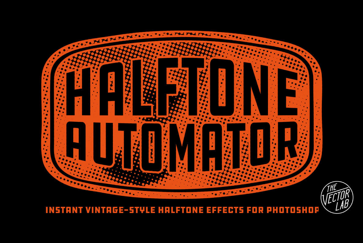 Instant Vintage Halftone Textures With Halftone Automator From Dombroski Design, Inc.