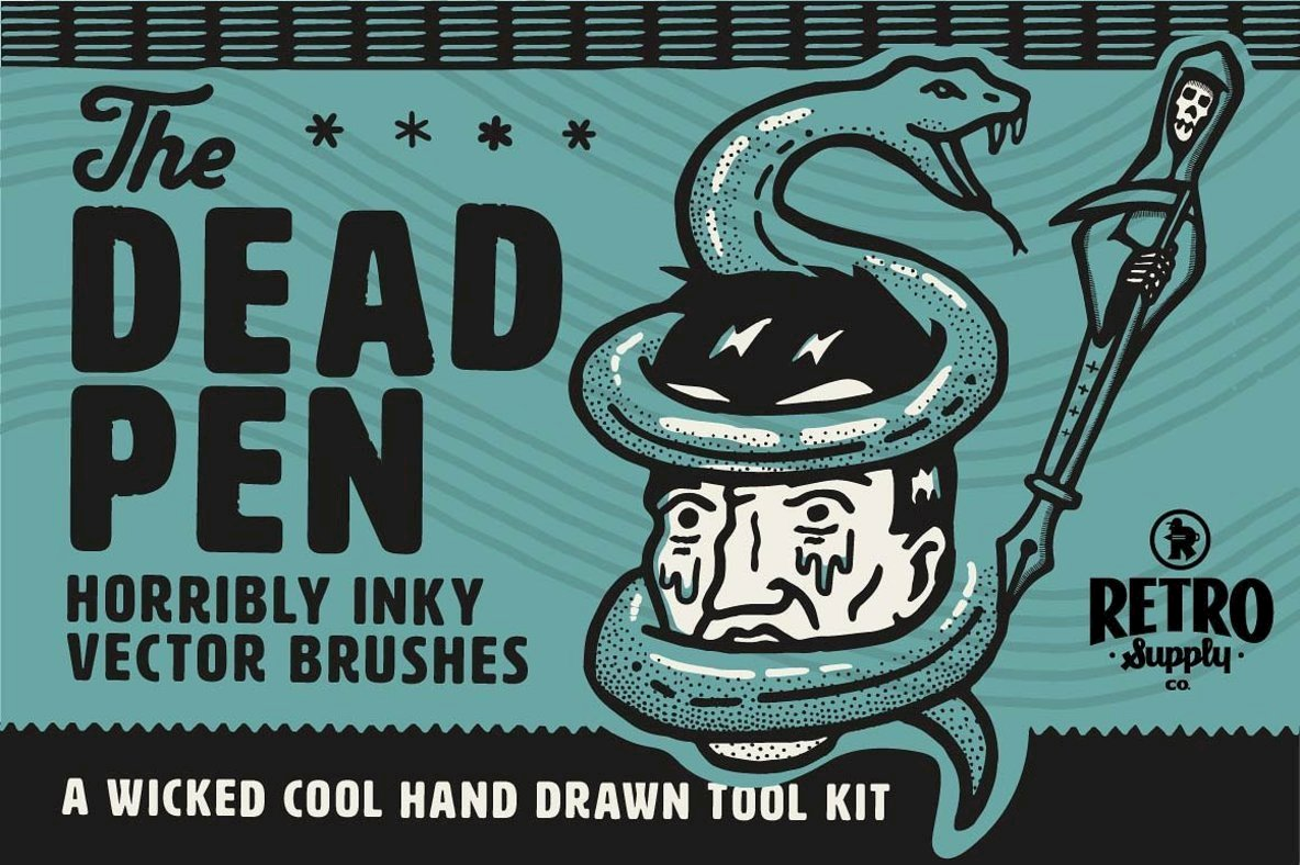 The Dead Pen - A Wicked Cool Hand Drawn Toolkit From RetroSupply Co.