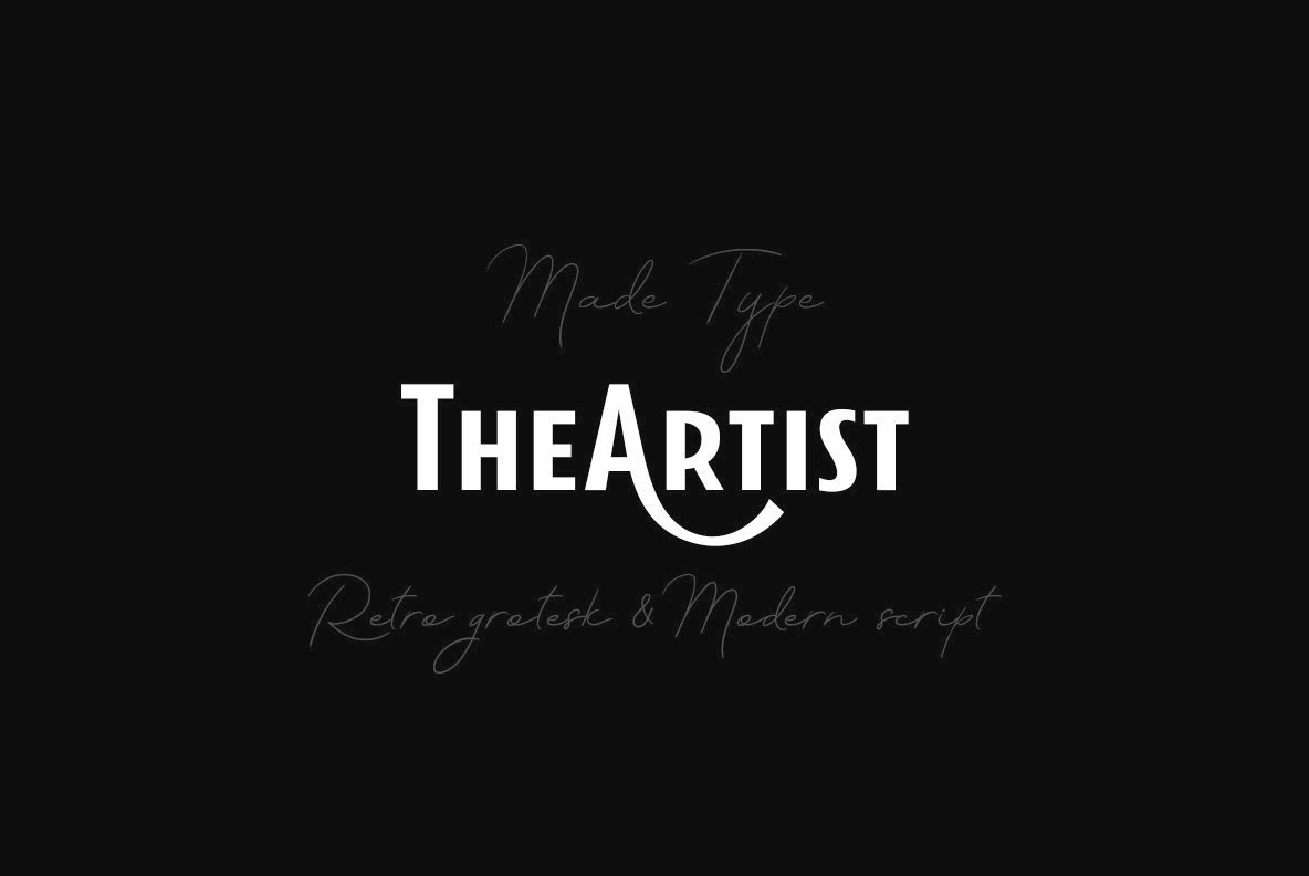 MADE TheArtist: A Script And Sans Font Duo From MadeType
