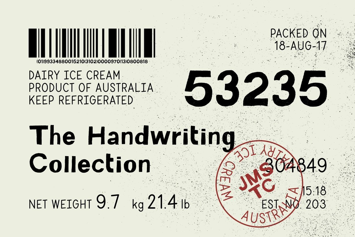 The Handwriting Collection - The Ultimate Bundle Of Organic, Hand Drawn Fonts