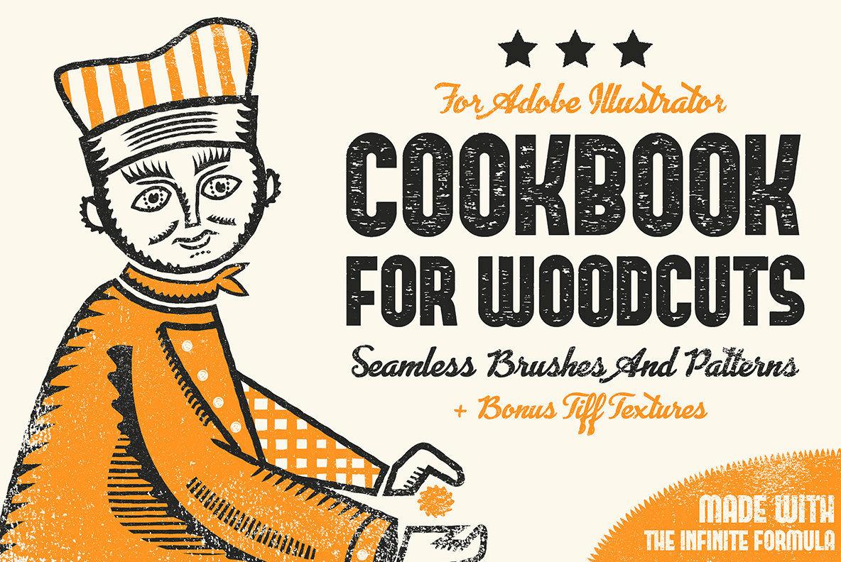 Cookbook for Woodcuts - Adobe Illustrator Brushes