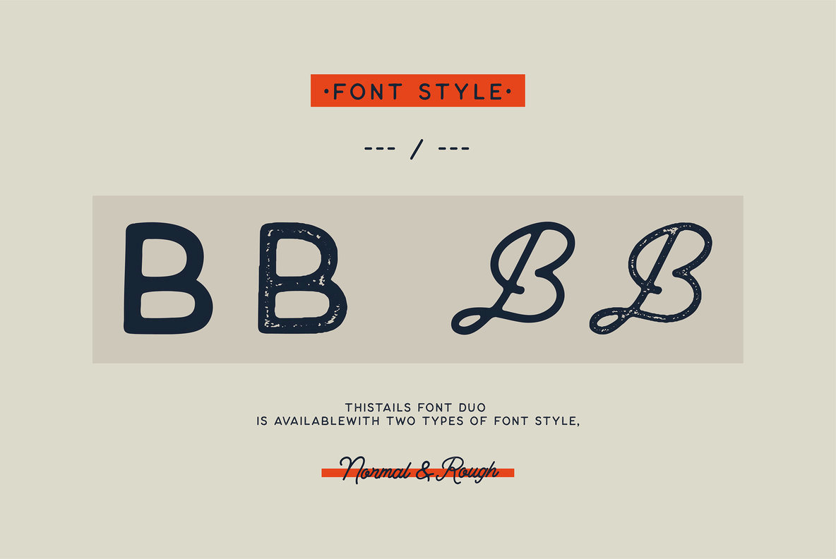 An Organic, Vintage Script And Sans: Thistails Font Duo   YouWorkForThem