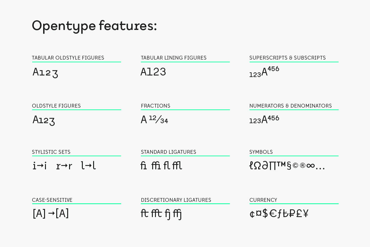Inspired by Monospaced Fonts, Aspect Type Releases Tabela