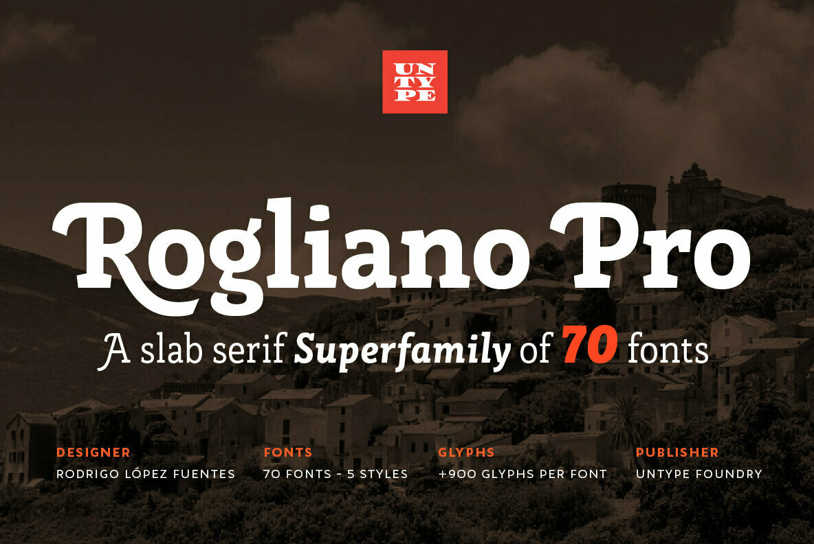 An Elegant Slab Serif From Untype Foundry: Rogliano Pro